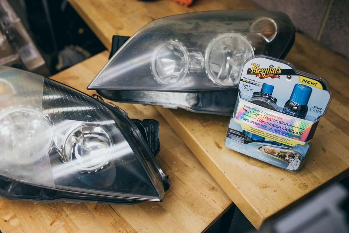 efekt po meguiars perfect clarity headlight restoration kit