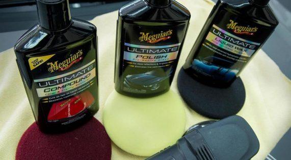 proces korekty lakieru produktami Meguiars